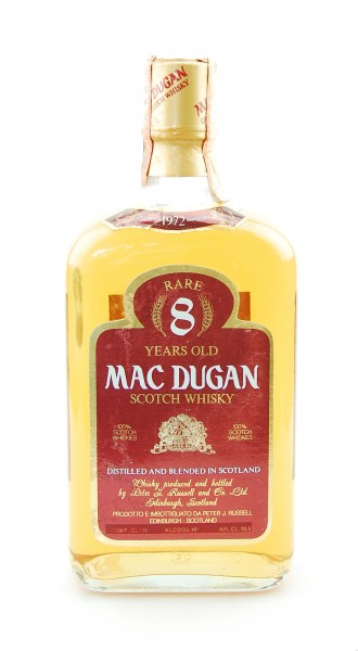 Whisky 1972 Mac Dugan Rare 8 Years Blended Scotch