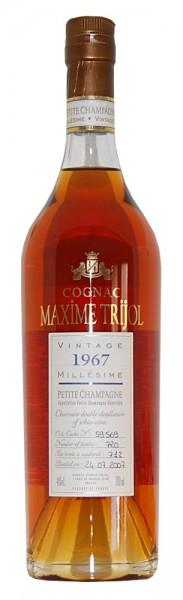 Cognac 1967 Maxime Trijol Petite Champagne