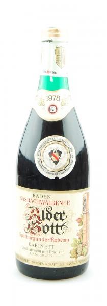 Wein 1978 Sasbachwaldener Alder Gott Spätburgunder