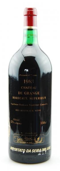 Wein 1983 Chateau de Grange Bordeaux Superieur