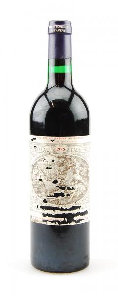 Wein 1975 Chateau Cadet-Piola Grand Cru Classe