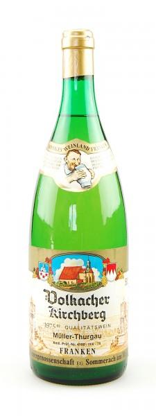 Wein 1975 Volkacher Kirchberg Müller-Thurgau