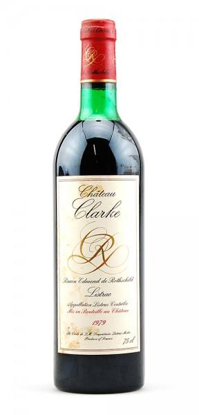 Wein 1979 Chateau Clarke Baron de Rothschild Listrac