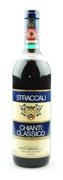 Wein 1980 Chianti Classico Straccali