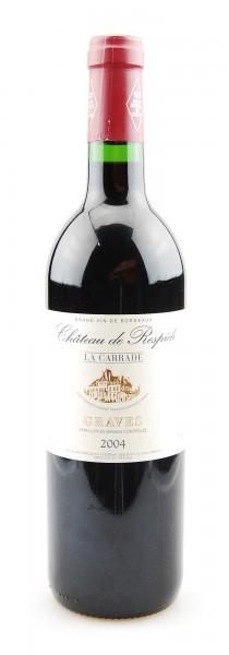 Wein 2004 Chateau de Respide La Carrade