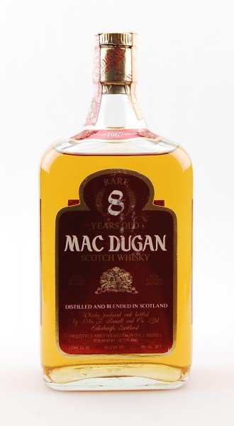 Whisky 1967 Mac Dugan Rare 8 Years Blended Scotch