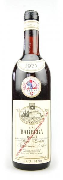Wein 1971 Barbera d´Asti Podere Borlotto