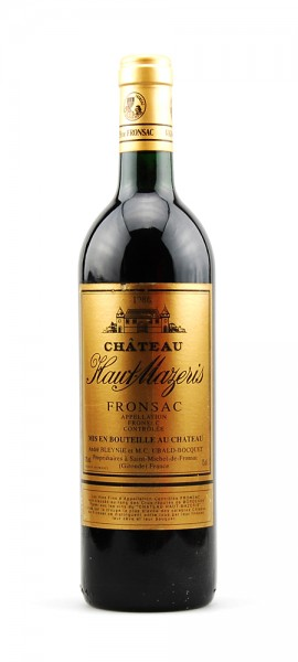 Wein 1986 Chateau Haut-Mazeris Appelation Fronsac