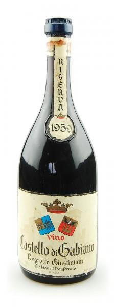 Wein 1959 Castello di Gabiano Riserva Giustiniani