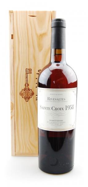 Wein 1958 Rivesaltes Sainte Croix