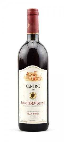Wein 1986 Rosso di Montalcino Villa Banfi Centine