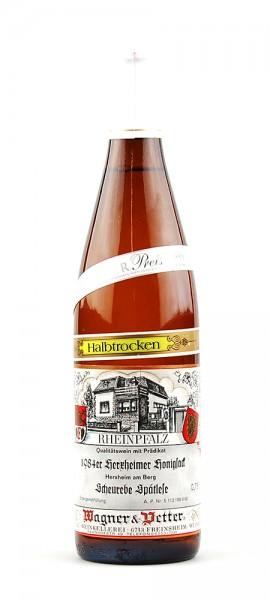 Wein 1984 Herxheimer Honigsack Scheurebe Spätlese