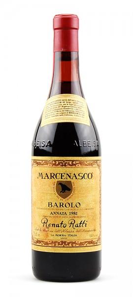 Wein 1981 Barolo Marcenasco Renato Ratti