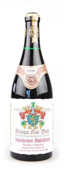 Wein 1963 Jugenheimer Hasensprung Neuzucht