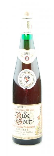 Wein 1978 Alde Gott Spätburgunder Weißherbst