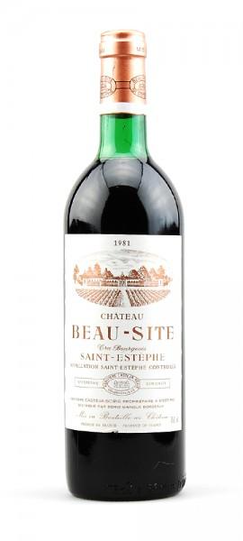 Wein 1981 Chateau Beau-Site Cru Bourgeois