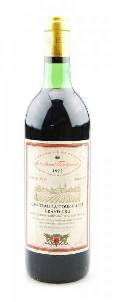 Wein 1972 Chateau La Tour Capet Ets. Saint Ferdinand
