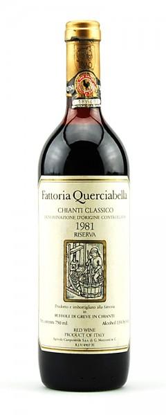 Wein 1981 Chianti Classico Riserva Querciabella