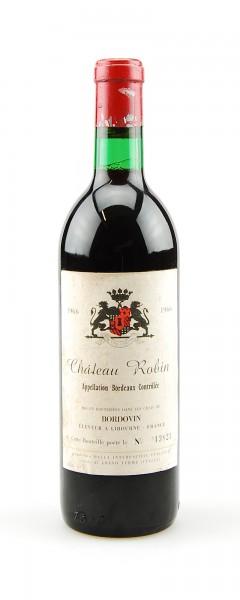 Wein 1966 Chateau Robin Appelation Bordeaux