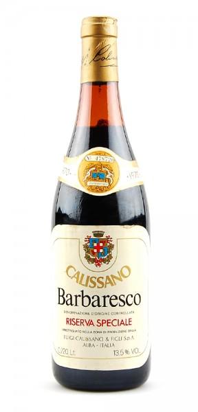 Wein 1970 Barbaresco Calissano Riserva Speciale