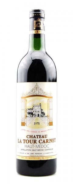 Wein 1975 Chateau La Tour Carnet 4eme Grand Cru Classe