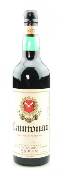 Wein 1974 Cannonau Vino Rosso Cantina Sorso