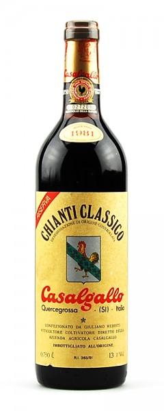 Wein 1981 Chianti Classico Riserva Casalgallo