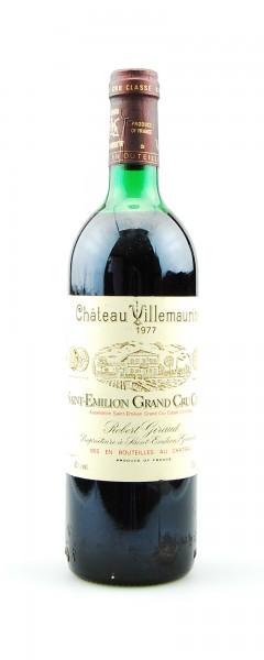Wein 1977 Chateau Villemaurine Grand Cru Classe