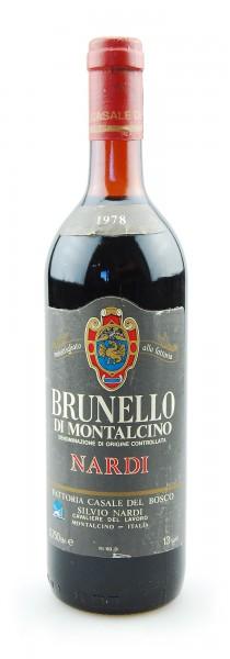 Wein 1978 Brunello di Montalcino Silvio Nardi