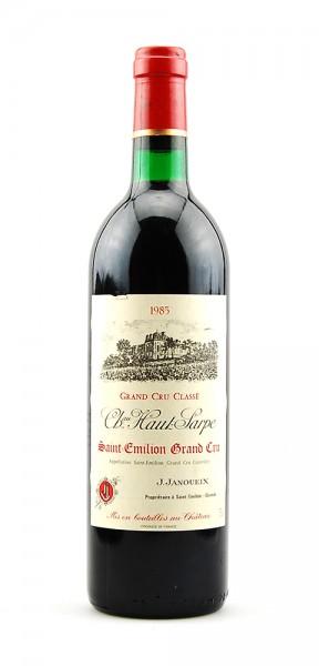 Wein 1985 Chateau Haut Sarpe Grand Cru Classe