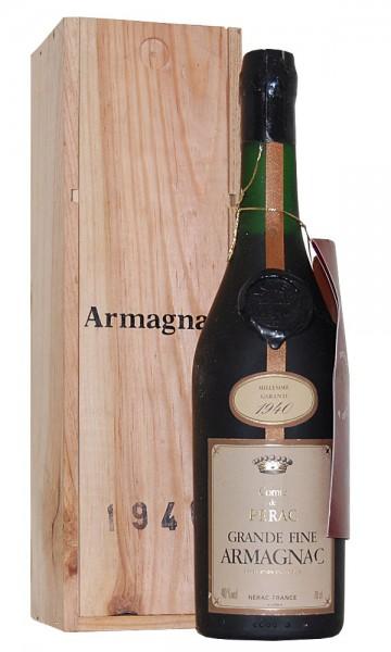 Armagnac 1940 Comte de Perac