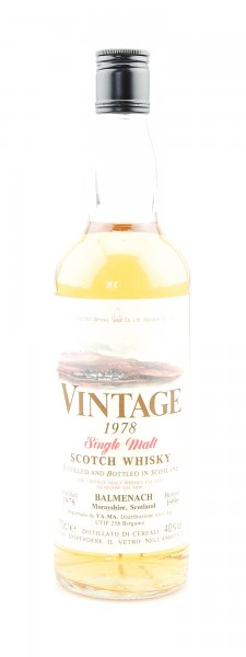 Whisky 1978 Balmenach Single Malt Scotch Whisky