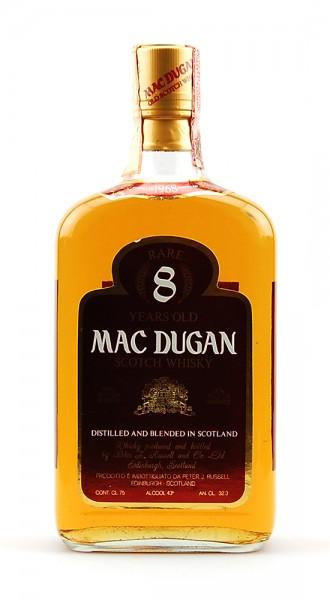 Whisky 1968 Mac Dugan Rare 8 Years Blended Scotch