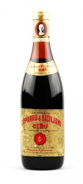 Wein 1963 Ciro Rosso Classico Riserva Caparra
