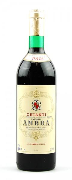 Wein 1988 Chianti Fattoria Ambra F. Zampi