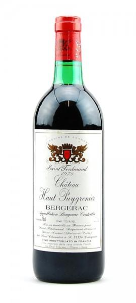 Wein 1978 Chateau Haut Puygrenier Saint Ferdinand