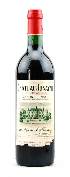 Wein 1986 Chateau Junayme Appelation Canon-Fronsac