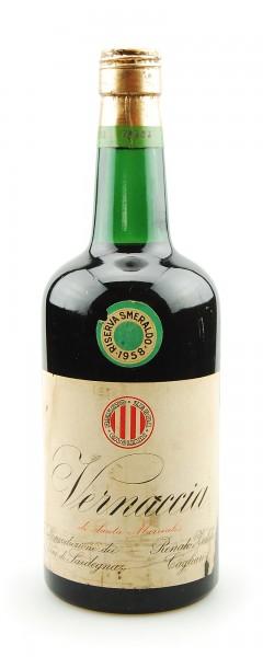 Wein 1958 Vernaccia Smeraldo Renato Zedda