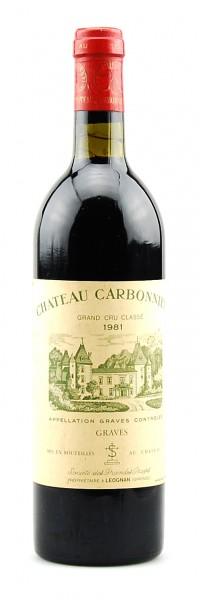 Wein 1981 Chateau Carbonnieux Grand Cru Classe