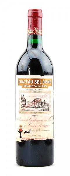Wein 1986 Chateau Bel Orme Tronquoy de Lalande