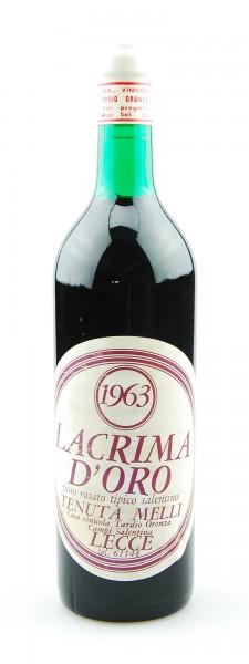Wein 1963 Lacrima d´Oro Tenuta Melli