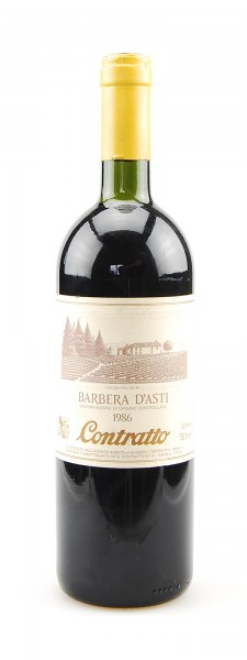 Wein 1986 Barbera d´Asti Giuseppe Contratto