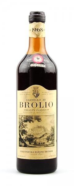 Wein 1968 Chianti Classico Brolio Barone Riscasoli