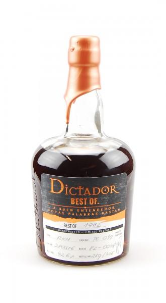 Rum 1982 Dictador Vintage Single Cask 34 Jahre