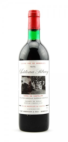 Wein 1975 Chateau Pitray Grand Vin de Bordeaux