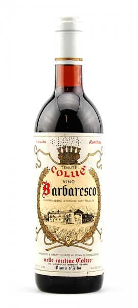 Wein 1974 Barbaresco Tenute Colue