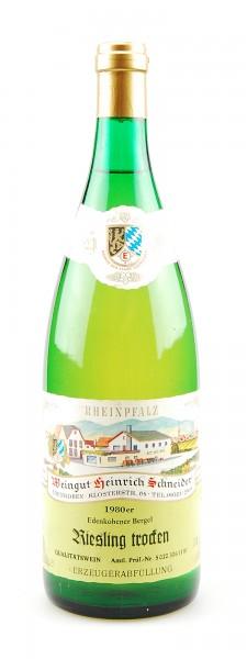 Wein 1980 Edenkobener Bergel Riesling trocken