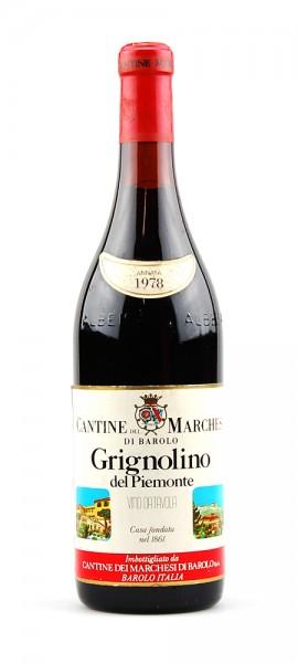 Wein 1978 Grignolino Marchesi di Barolo