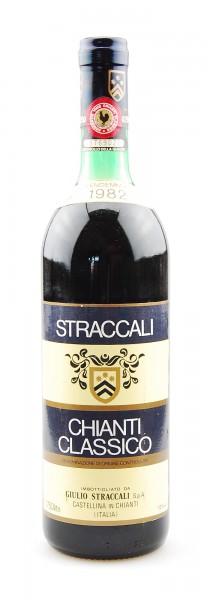 Wein 1982 Chianti Classico Straccali