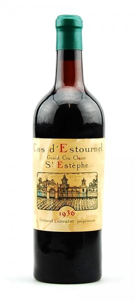 Wein 1936 Chateau Cos d´ Estournel 2eme Cru Classe